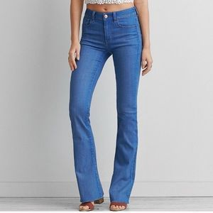 Frayed flare jeans!